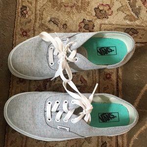 40032737ca Vans Shoes - Seafoam Green Polka Dot and Grey Vans